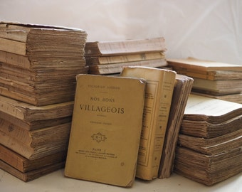Paperback antique brown books. group, collections, lots, libraries, bulk, vintage.