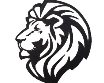 One Color Lion Head Embroidery Design