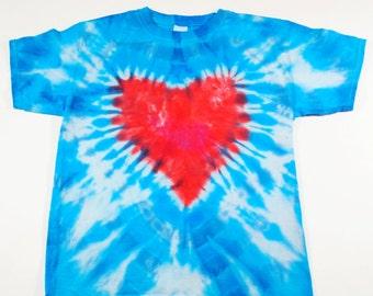 Tie Dye Heart Tshirt