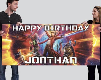 Custom Guardians of the Galaxy Happy Birthday Banner (2.5'x6')