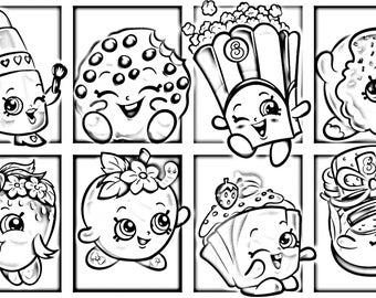 Shopkinss Coloring Page