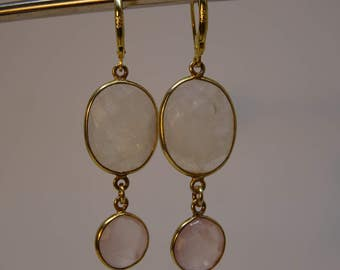 Earrings Crystal Rose Quartz