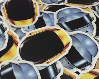 Daft Punk Helmet Stickers