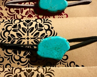 Turquoise Slab Choker Necklace