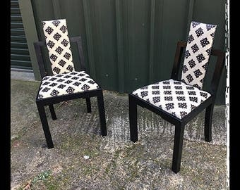 Art Deco chairs, extra chairs, decorative chairs, bedroom chairs, hallway chairs