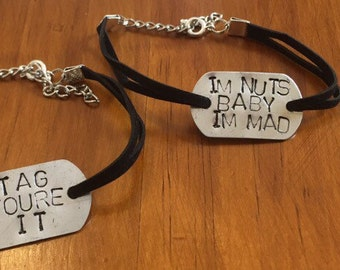 Personalised Dog Tag Bracelet