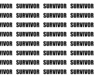 Survivor Inspired Typography Planner Stickers