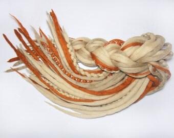 DE merino wool dreads dreadlocks [Princess of the Desert] fairy,forest,desert,tribal,pixy, boho, bohemian, full head