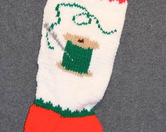 Thread Personalized Knit Christmas Stocking