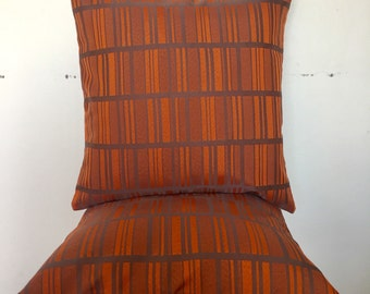 Retro Fabric Throw Pillow Orange Geometric 18x18inch 50x50cm Throw Pillow Cushion Cover