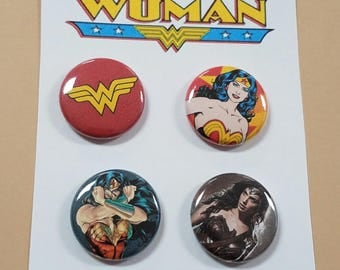 "Wonder Woman (Set of 4) 1"" Button or Magnet"