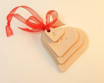 Handmade heart, ceramic heart, pottery heart, heart for her, gift for him, birthday gift, anniversary present, husband, wife, love