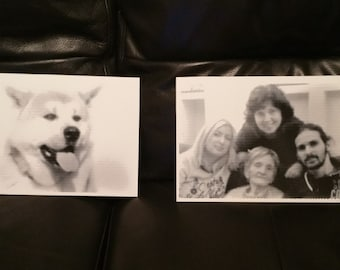 Halftone Custom Engraved Photo / Picture