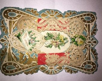 Victorian Valentine Card Vintage Valentine's Day Card