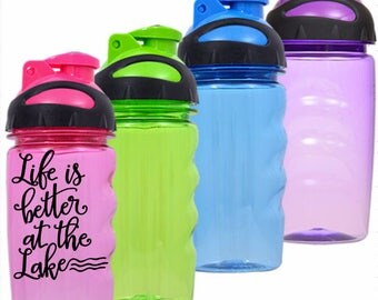 Life is better at the lake - Kids water bottle