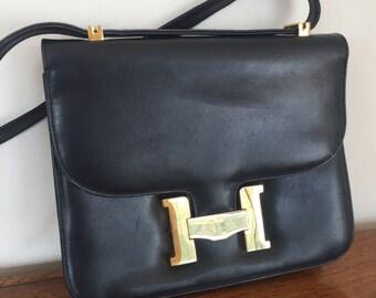 Vintage Constance H Clasp Shoulder Bag Purse Clutch