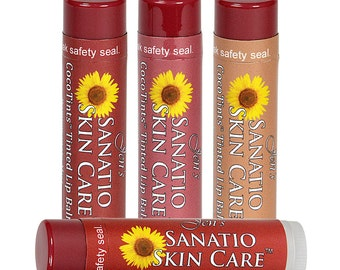 CocoTints Tinted Lip Balm Warm 4-color Combo Pack