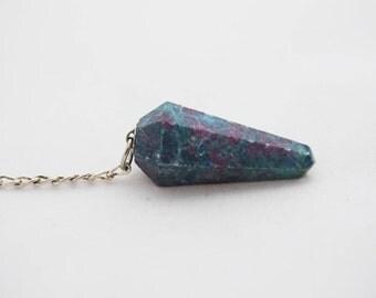 Ruby Fuchsite Pendulum