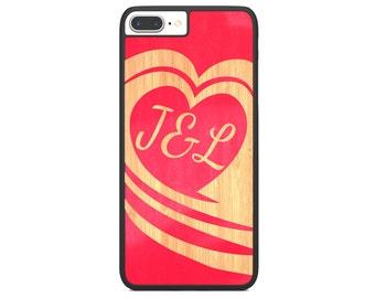 Valentine Monogram Heart Phone Skin