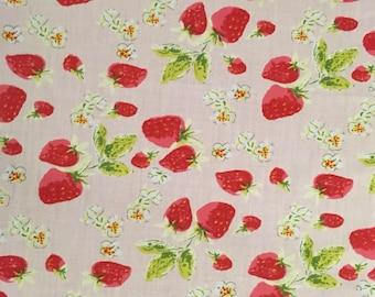 Pink strawberry bandana