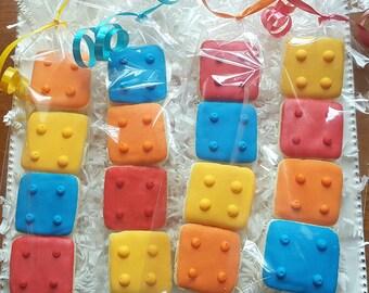 32 Mini Lego Block Cookies Party Favors