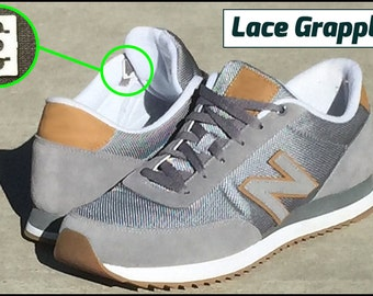 Lace Grapples - No Tie Shoelace Anchor System - Converts 2 Shoes to Minimal Lace Look