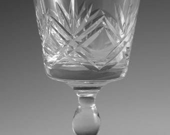 "Thomas WEBB Crystal - LONDON Cut - Wine Glass / Glasses - 4 1/8"""