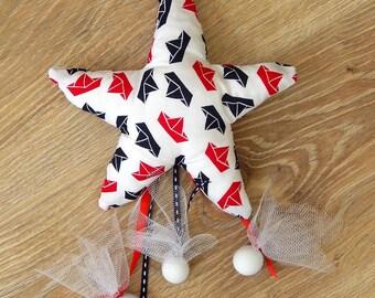 80pcs x Starfish Baptism/Christening Bomboniere - Handmade Plush Pillow .Baptism Favors with 3 Hanging Sugar Dragees (Koufeta)