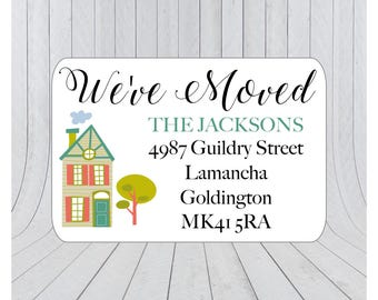 36 x We've moved return address labels, moving announcement stickers, we've moved envelope seal, moving house announcement 061