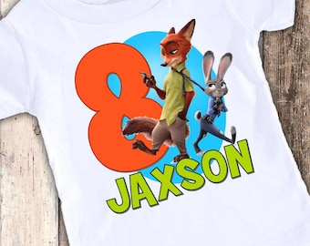 Zootopia 3 custom designed birthday t shirt tshirt personalized