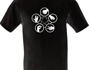 Rock Paper Scissors Lizard Spock - M L XL - funny holiday shirt festival clothing present gaming big bang custom vinyl print skyrim fallout