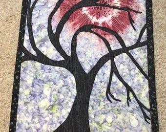 Art Quilt Beaded Tree of Life