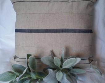 Grain sack style pillow