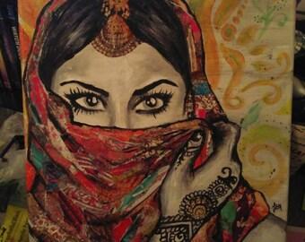 Bollywood babe canvas