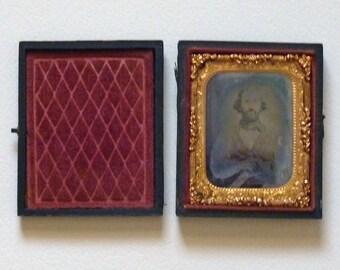 Daguerrotype of a man