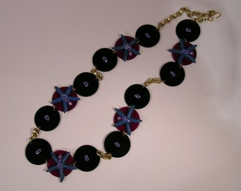 Necklace/belt blue stars