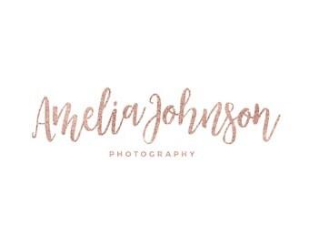 Name Logo / Rose Gold Logo / Photography Logo Design / Rose Gold Script Logo / Modern Logo / Makeup Artist Logo / Feminine Logo Design Shop