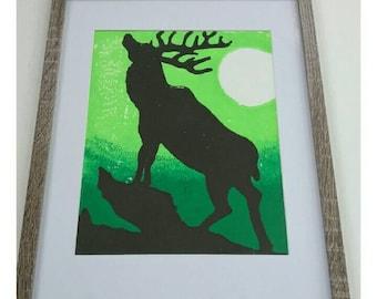 Wildlife Prints, Elk Wall Art, Woodland Wall Decor, Forest Print, Lodge Decor, Animal Decor, Woodland Animals, Living Room Wall Decor