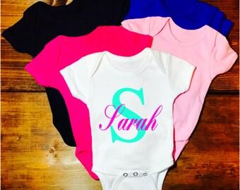 Cute baby gift etsy customizable onsie name onsie baby name cute gift custom name personalized negle Gallery