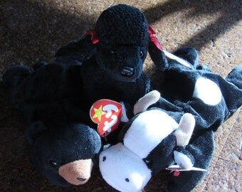 Daisy, Gigi, and Blackie Beanie Babies