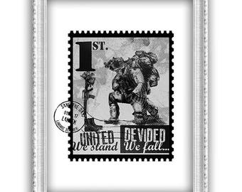 United we stand postage stamp-