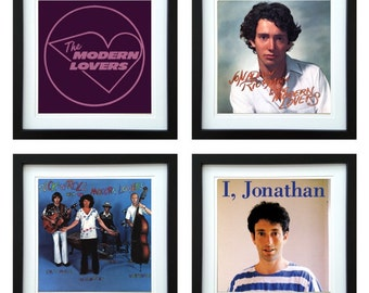Jonathan Richman - Framed Album Art - Set of 4 Images