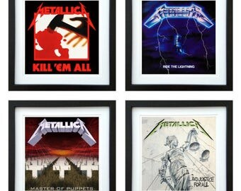 Metallica - Framed Album Art - Set of 4 Images