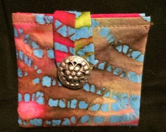 Batik Rainbow Tea Wallet