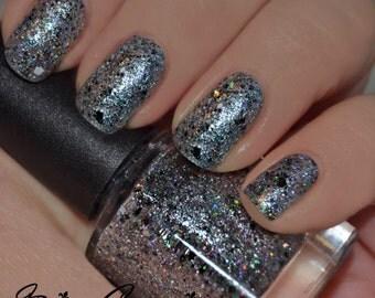 Gumbo Ya-Ya - Silver, Multicolored and Holographic Glitter Nail Polish LIMITED EDITION