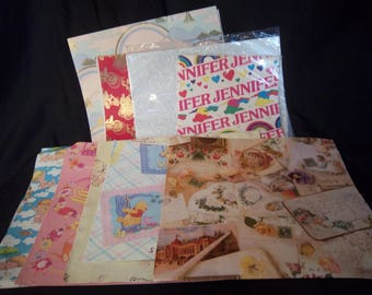 Vintage Mixed Wrapping Paper Lot