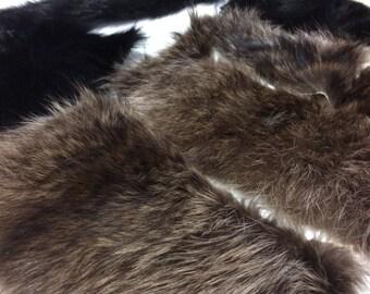 Real genuine fur scraps