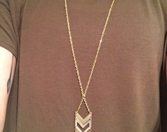 Gold & Silver Chevron