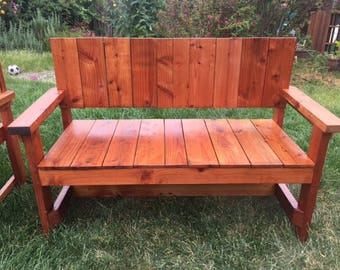 4' Old Growth Reclaimed Redwood Bench Loveseat