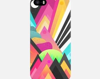 Geometric Mountains iPhone Case, Multicolor iPhone 6 Case, iPhone 6s Case, iPhone 5C Case, iPhone 7 Case, iPhone 7 Plus Case, iPhone 5s Case